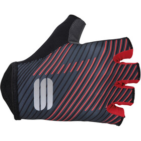 Sportful Bodyfit Team Faster Gloves Black/Dark Grey/Red